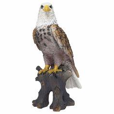 Cedric the Realistic Polyresin Bald Eagle Garden Ornament Animal Garden Ornaments, Bird Ornaments, Animal Statues, Animal Design, Traditional Design, Garden Inspiration, Bald Eagle, Garden Design, Animals