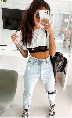 Trendy Fall Outfits, Sporty Outfits, Cute Casual Outfits, New Outfits, Spring Outfits, Fashion Outfits, Outfit Cabello, Tumbrl Girls, Mein Style