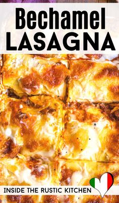 A classic recipe for homemade Lasagna made entirely from scratch. There's truly nothing more comforting than a hot bubbling baked lasagna made with homemade beef ragu, bechamel sauce, silky pasta and Lasagna With Bechamel Sauce, Lasagna Sauce, Salsa Bechamel, Baked Lasagna, Recipes With Bechamel Sauce, Chicken Lasagna, Best Lasagna Recipe, Lasagna Recipe With Ricotta, Italian Soup Recipes