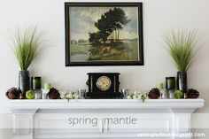 Setting for Four: My Space: Spring Fireplace Mantle