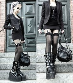 H Jacket, Lindex Bag, Second Hand Demonia Boots