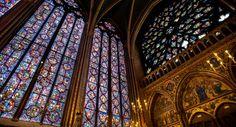 Stained Glass, Interior, Sainte-Chapelle, Paris, France