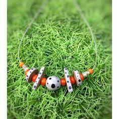 Collier en céramique multi perles faïence et perles de verre