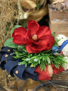 Red magnolia floral centerpiece. #patriotic #silkflowerarrangements #silkflowers #magnolia #homedecor #diy #floristshop #floral #flowers Faux Flowers, Floral Flowers, Silk Flowers, Faux Flower Arrangements, Table Arrangements, Dinning Table, Floral Centerpieces, Floral Wedding, Magnolia