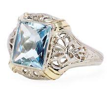 Open Air: Vintage Aquamarine Filigree Ring