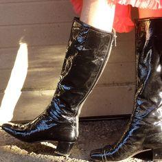 d8967358c41 Depop - The creative community s mobile marketplace. Patent Leather Boots