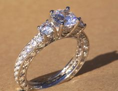 Diamond+Engagement+Ring++VINTAGE+style++1.85+by+BeautifulPetra,+$6,000.00