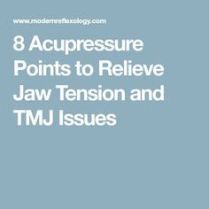 Acupuncture Migraine 8 Acupressure Points to Relieve Jaw Tension and TMJ Issues - Pain in the cheeks and jaws can be a result of TMJ problems and jaw tension. Acurpessure can help in relaxing jaw tension effectively. Migraine, Tmj Headache, Meridian Massage, Massage Tips, Acupressure Points, Acupressure Therapy, Acupuncture Benefits, Massage, Home Remedies