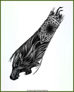 Viking Tattoo Sleeve, Viking Tattoo Symbol, Wolf Tattoo Sleeve, Norse Tattoo, Sleeve Tattoos For Women, Viking Tattoos, Tattoo Symbols, Tattoo Women, Arm Tattoo Men