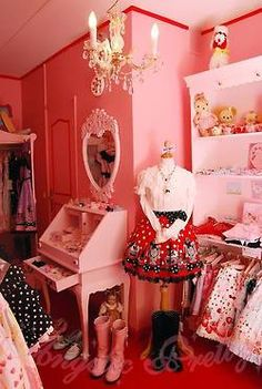 *Angelic Pretty* Lolita room by Lolita in Japan Me: I love the use of the manican <-- However you spell that