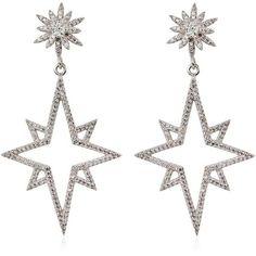 Apples & Figs Jewellery Women Supernova Earrings (1.010 BRL) ❤ liked on Polyvore featuring jewelry, earrings, accessories, silver, brinco, earring jewelry, lightweight earrings, nickel free earrings and nickel free jewelry