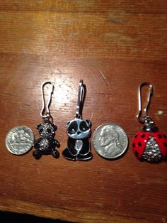 A personal favorite from my Etsy shop https://www.etsy.com/listing/265982235/zipper-pusres-clip-ladybug-bling-bling
