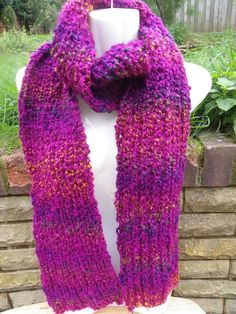 Hand knitted scarf £12.00