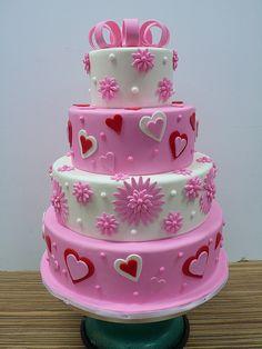 Pink Valentine Cake