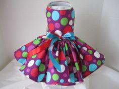 Dog Dress  XS Purple with large Polkadots  by NinasCoutureCloset, $30.00