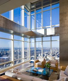 Penthouses: Incredible Duplex On Top Of Bloomberg Tower, Manhattan, New York © Paul Warchol Click the picture for more!