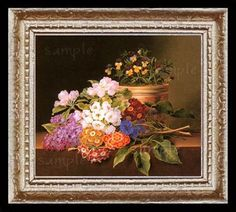 Flowers Floral Miniature Dollhouse Art Picture 6680, $11.95