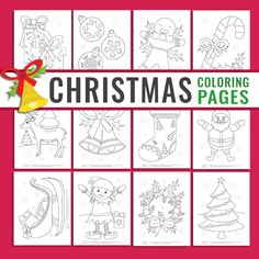 12 Christmas Coloring Pages for Kids