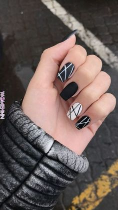 Nail art is a very popular trend these days and every woman you meet seems to have beautiful nails. It used to be that women would just go get a manicure or pedicure to get their nails trimmed and shaped with just a few coats of plain nail polish. Black Nail Designs, Nail Polish Designs, Acrylic Nail Designs, Nails Design, Fun Nail Designs, Neutral Nail Designs, Blog Designs, Short Nail Designs, Cute Acrylic Nails