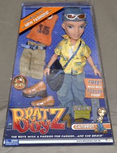 NIB 2003 Bratz Boyz Cameron -extra outfits and lots of accessories Liv Dolls, Ken Doll, Little Girl Toys, Toys For Girls, Barbie 90s, Barbie Dolls, 90s Childhood, Childhood Memories, Monster High Boys