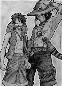 Brothers  Monkey D. Luffy & Portugas D. Ace