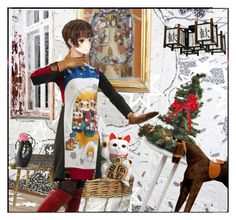 """MANEKI_NEKO...For comp..."" by cathiemcnally ❤ liked on Polyvore featuring art"