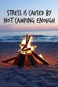 Stress? Let's go #camping! I miss the smell of #campfire #GoingCamping
