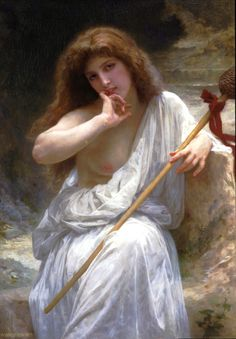 Bacchante (1899). William-Adolphe Bouguereau (French, Realism, Neoclassicism, 1825-1905). Oil on canvas.