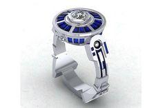 Paul Michael Design R2D2 engagement ring -