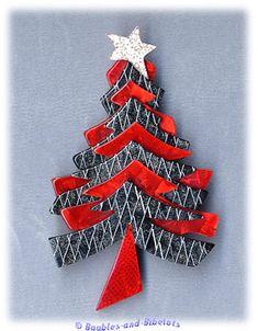 Lea Stein Silvery Christmas Tree