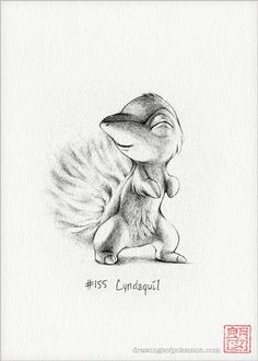 Cyndaquil 5 x 7 print (pokemon drawing fire art artwork gaming nintendo Animal Sketches, Drawing Sketches, Art Drawings, Pencil Drawings, Cute Pokemon, Pokemon Fan, Gold Pokemon, Pokemon Sketch, Pikachu Drawing