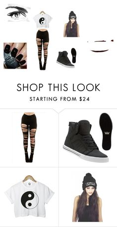 """""""Dança"""" by giovanna-horan-1 ❤ liked on Polyvore featuring Supra, CC, Azature and Eyeko"""