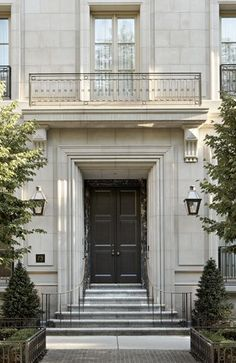 The timeless elegance of classical architecture. French Town Home in Chicago by BGD&C.
