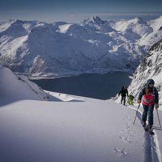 Lofoten offers some of the worlds most dramatic ski touring terrain in the world. #skilofoten @lofotenskilodge