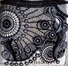 zentangle and freeform crochet
