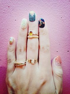 Over the top nails #manicure #fashion