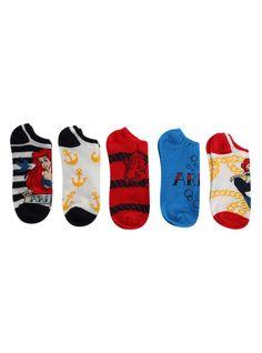 Disney The Little Mermaid No-Show Socks 5 Pair | Hot Topic