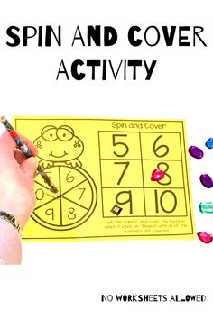 Teach your students to recognize numbers to 10 with these 16 fun math activities! Children should spin the spinner, say the number which it lands on and then complete the activity. Number Recognition Activities, Fun Math Activities, Shape Games, Learning Numbers, Hands On Learning, 2nd Grade Math, Kindergarten Teachers, Math Centers, Creative Teaching