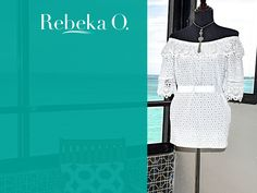 Sexy with a handmade Mini Dress in white Cotton Embroidery by Rebeka O. Available in: Medium | contact@rebekao.com | #RebekaO #ResortWear