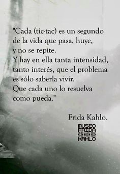 Saber vivir. Frida Kahlo.