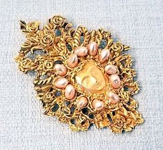 Jewelry & Watches Official Website Broche Pendentif Vintage En Perles Accessoire Mode Robe 1960