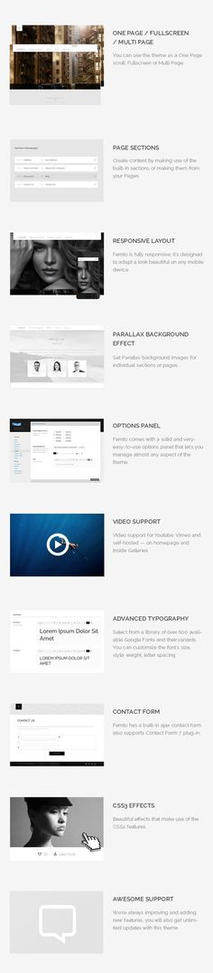 WP Theme Of the Day #199 – Femto – Clean Responsive One Page Photography Theme
