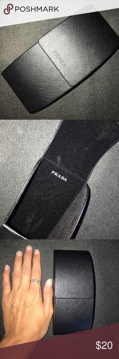Prada Sunglasses Case - Black - Black Felt Lining Prada Sunglasses Case - Black - Black Felt Lining - Hard Case Prada Accessories Sunglasses