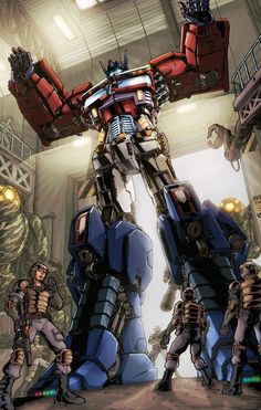 Optimus is always awesome. Though I'm sure that everyone is wondering if he would ever die and stay dead. The same could be said of Megatron. Transformers Cybertron, Transformers Optimus Prime, Gi Joe, Gundam, Ex Machina, Nerd, War Machine, Anime Comics, Oeuvre D'art