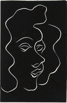 Henri Matisse (1869-1954), Untitled, Linoleum cut.