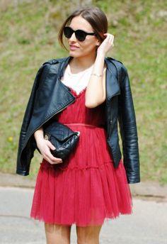 Vestido Rojo Granate   Chicwish , Otoño-Invierno 2014. En el armario de lapetiteblonde desde el 3-4-2014 Tulle, Skirts, Outfits, Tops, Fashion, Vestidos, Red Garnet, Dress Red, Best Songs