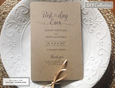 Rustic Wedding Fan Program Template Rustic By Diyweddingsprintable