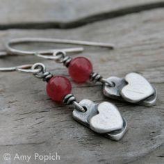 Sweet metal clay earrings.