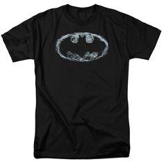DC Comics Batman Smoke Logo Adult Short Sleeve Tee - Black