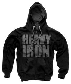 HEAVY-IRON-CLOTHING-CLASSIC-HOODIE-BLACK Bodybuilding Clothing 631be0acbcd